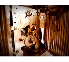 Inner Workings...1848 UNGHANS Carriage Clock...Still Works Photographic Print