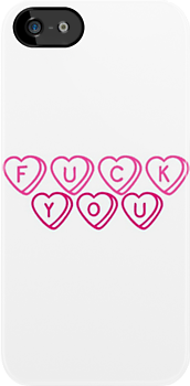 F.U Valentine's Day Sweet Hearts Font by meow-or-never10