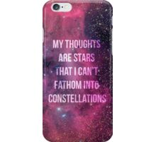 My Thoughts Are Stars iPhone Case/Skin