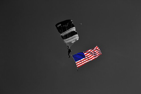 Air Show Selective Coloring Flag by Christopher Hanke