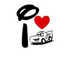 I Heart Cars Land Photographic Print