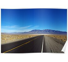 Highway through the desert, Nevada Poster