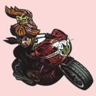princess peach motorcycle  by erkillers