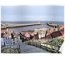 Harbour View. Whitby. Poster