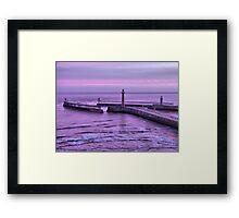 Sunrise over Whitby Framed Print