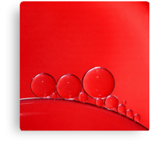 Red Bubbles Canvas Print