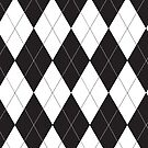 Black and White Argyle by ValeriesGallery