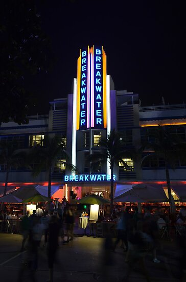 The Breakwater on Ocean Drive in Miami Beach, Florida by 242Digital