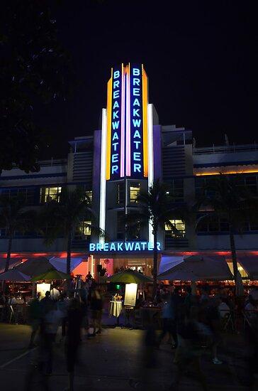 The Breakwater on Ocean Drive in Miami Beach, Florida by 242Digital