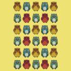 Owl Montage 1 by emuhleeks