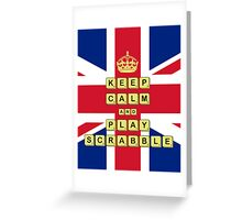 Keep Calm And Play Board Games Greeting Card