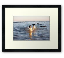 benson and jess at cooden Beach Framed Print