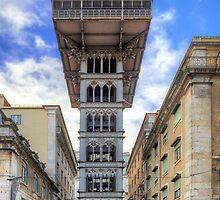 Santa Justa Elevator by manateevoyager