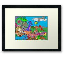 Dinosaurs Framed Print