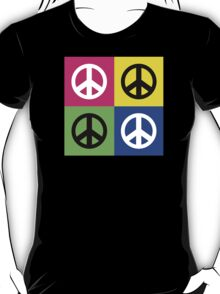 "Peace "" Multicolored Peace Signs "" T-Shirt"