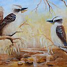 Bush Tunes Kookaburras by Glen Johnson