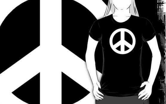 Peace Sign Symbol Dark T-Shirt by T-ShirtsGifts