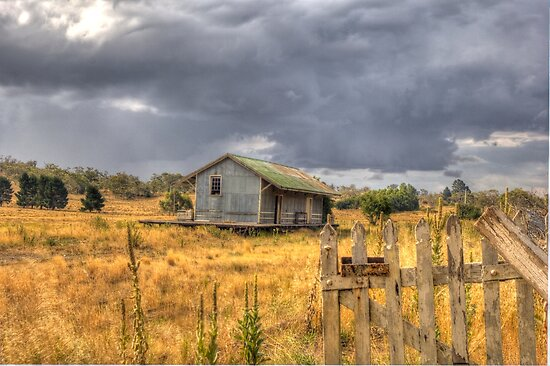 Deserted Railway Station Nimmitabel NSW Rural Goods Shed by Kym Bradley