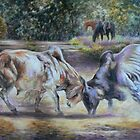 bullfight at the washpool by maria paterson