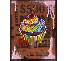 Jesse James' $500 Cupcake Photographic Print