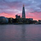 Shard Sunset by James Grant