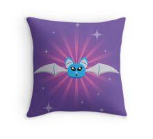 Happy Bat Throw Pillow
