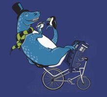 Tandem T-Rex with Toucan and Tea while Tardis Toils by BootsBoots