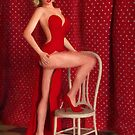 Marilyn Monroe Wearing a Red Dress by Liam Liberty