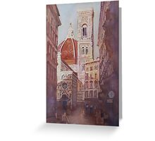 And Suddenly, The Duomo Greeting Card