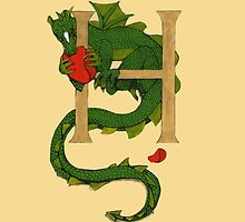 "Oscar and the Roses ""H - Tail"" (Illustrated Alphabet) by Donna Huntriss"