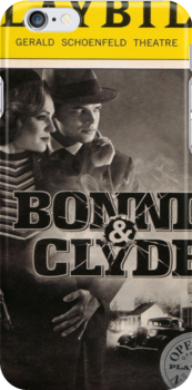 Bonnie & Clyde Opening Night Playbill iPhone case by paintedblue