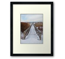 Distant Lighthouse - Perkins Cove Framed Print