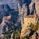 Meteora monasteries by george papapostolou