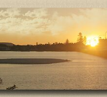 Forster/ Tuncurry Bridge at Sunset by john NORRIS