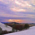 The Hills above Llanfyllin Powys by Jacqueline Longhurst
