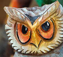 Wooden owl by Arie Koene