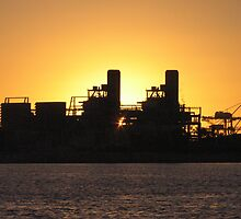 Industrial Sunset  by Stuart Daddow Photography