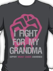 I Fight Breast Cancer Awareness Grandma T-Shirt