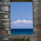 Window View at Fayette State Park in Michigan by Randall Nyhof