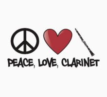 Peace, Love, and Clarinet by shakeoutfitters