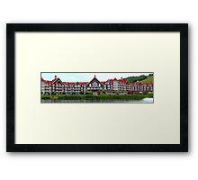Blue Mountain resort Framed Print