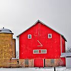 Barn With Face by EBArt