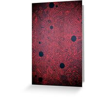 The War is Red Greeting Card
