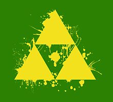 Triforce Splat by PolySciGuy