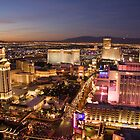 Sunset over Las Vegas by gleadston