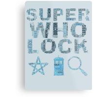 SUPERWHOLOCK [BLUE] Metal Print