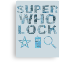 SUPERWHOLOCK [BLUE] Canvas Print