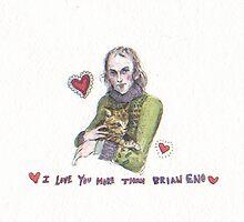 Brian Eno Valentine  by brettisagirl