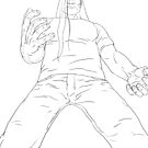 Metalocalypse - Nathan Explosion Dethklok (Production Drawing) by Sebastian Sindermann