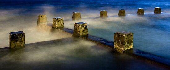 Coogee sea pool, predawn. by Steve Munro